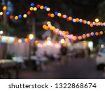 vintage tone colorful of light... | Shutterstock . vector #1322868674