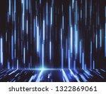 creative glowing digital blue... | Shutterstock . vector #1322869061