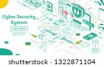 outline cyber security concept. ...   Shutterstock .eps vector #1322871104