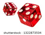 Red casino dice  w clipping...