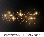the dust sparks and golden... | Shutterstock .eps vector #1322877044