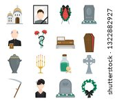 death and funeral services... | Shutterstock .eps vector #1322882927