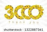 thank you 3 000 followers... | Shutterstock .eps vector #1322887361