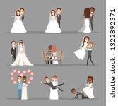 couple wedding set. collection... | Shutterstock .eps vector #1322892371