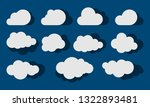 clouds silhouettes. set of... | Shutterstock . vector #1322893481