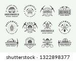 set of retro mining or...   Shutterstock .eps vector #1322898377