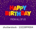 happy birthday inscription in... | Shutterstock .eps vector #1322899004
