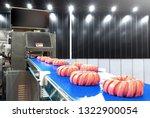 fresh raw pork meat cuts on a... | Shutterstock . vector #1322900054