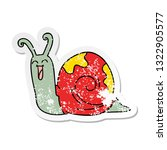 distressed sticker of a quirky... | Shutterstock .eps vector #1322905577