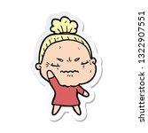 sticker of a cartoon annoyed... | Shutterstock .eps vector #1322907551