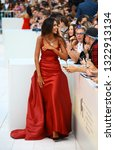 Small photo of VENICE, ITALY - SEPTEMBER 02: Madalina Ghenea walks the red carpet ahead of the 'The Sisters Brothers' screening during the 75th Venice Film Festival on September 2, 2018 in Venice, Italy