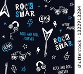 rock music theme vector... | Shutterstock .eps vector #1322913284