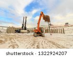 pile driving of hydraulic... | Shutterstock . vector #1322924207