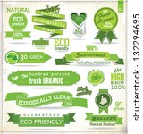 set of organic labels | Shutterstock .eps vector #132294695