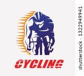 cycling race stylized symbol ... | Shutterstock .eps vector #1322949941