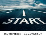 the beginning of the path is... | Shutterstock . vector #1322965607