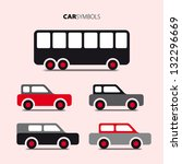 vector collection of cars and... | Shutterstock .eps vector #132296669