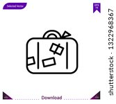 luggage icon vector . best...