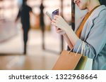 lifestyle shopping concept ... | Shutterstock . vector #1322968664