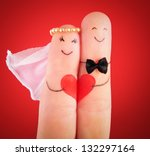 wedding concept   newlyweds... | Shutterstock . vector #132297164