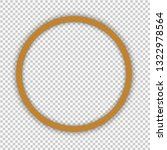 yellow circled frame isolated... | Shutterstock .eps vector #1322978564