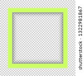 green square isolated on... | Shutterstock .eps vector #1322981867