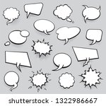 set of blank template in pop... | Shutterstock .eps vector #1322986667