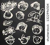children's drawings. elements...   Shutterstock .eps vector #1322996504