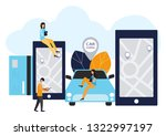 people and auto. making deals...   Shutterstock . vector #1322997197