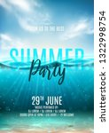 summer party poster template.... | Shutterstock .eps vector #1322998754