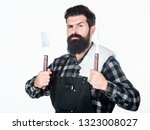 barbecue master. bearded... | Shutterstock . vector #1323008027