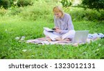 business lady freelance work... | Shutterstock . vector #1323012131