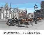 view on grote markt square in... | Shutterstock .eps vector #1323015401