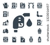 petrol icon set. 17 filled... | Shutterstock .eps vector #1323016457