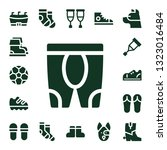 foot icon set. 17 filled foot... | Shutterstock .eps vector #1323016484
