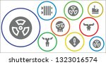 threat icon set. 9 filled...   Shutterstock .eps vector #1323016574