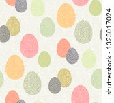color easter eggs with... | Shutterstock .eps vector #1323017024
