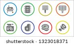 ribs icon set. 8 filled ribs...   Shutterstock .eps vector #1323018371