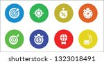 competitive icon set. 8 filled... | Shutterstock .eps vector #1323018491