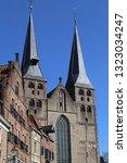 towers of the bergkerk church... | Shutterstock . vector #1323034247