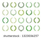 set of green silhouette laurel... | Shutterstock .eps vector #1323036257
