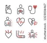 angina pectoris line icons.... | Shutterstock .eps vector #1323036467