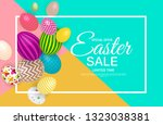 abstract easter sale template... | Shutterstock .eps vector #1323038381