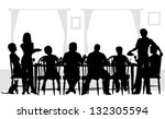 editable vector silhouettes of... | Shutterstock .eps vector #132305594