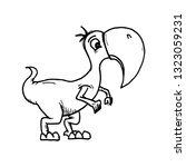 character dinosaur with beak. | Shutterstock .eps vector #1323059231
