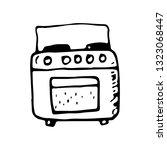 hand drawn gas cooker doodle....   Shutterstock .eps vector #1323068447