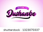 dushanbe welcome to creative... | Shutterstock .eps vector #1323070337