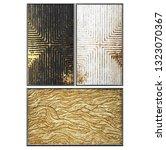 3d wall art  picture of gold... | Shutterstock . vector #1323070367