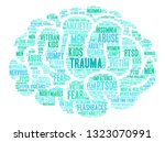 trauma word cloud on a white... | Shutterstock .eps vector #1323070991