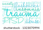 trauma word cloud on a white... | Shutterstock .eps vector #1323070994